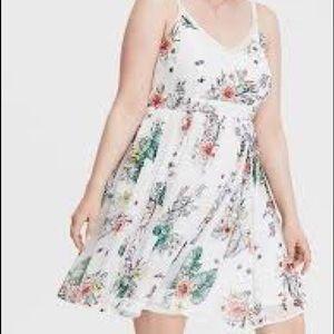 Torrid White Crochet Chiffon Mini Dress 2X